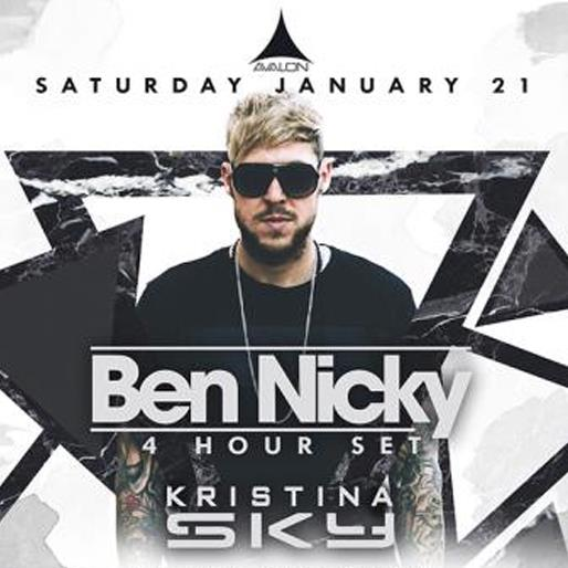 Ben Nicky 4 hour set, Kristina Sky