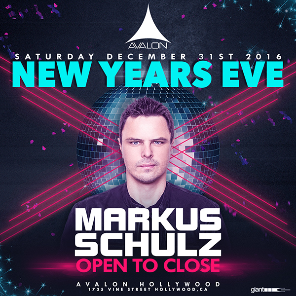 NYE with MARKUS SCHULZ