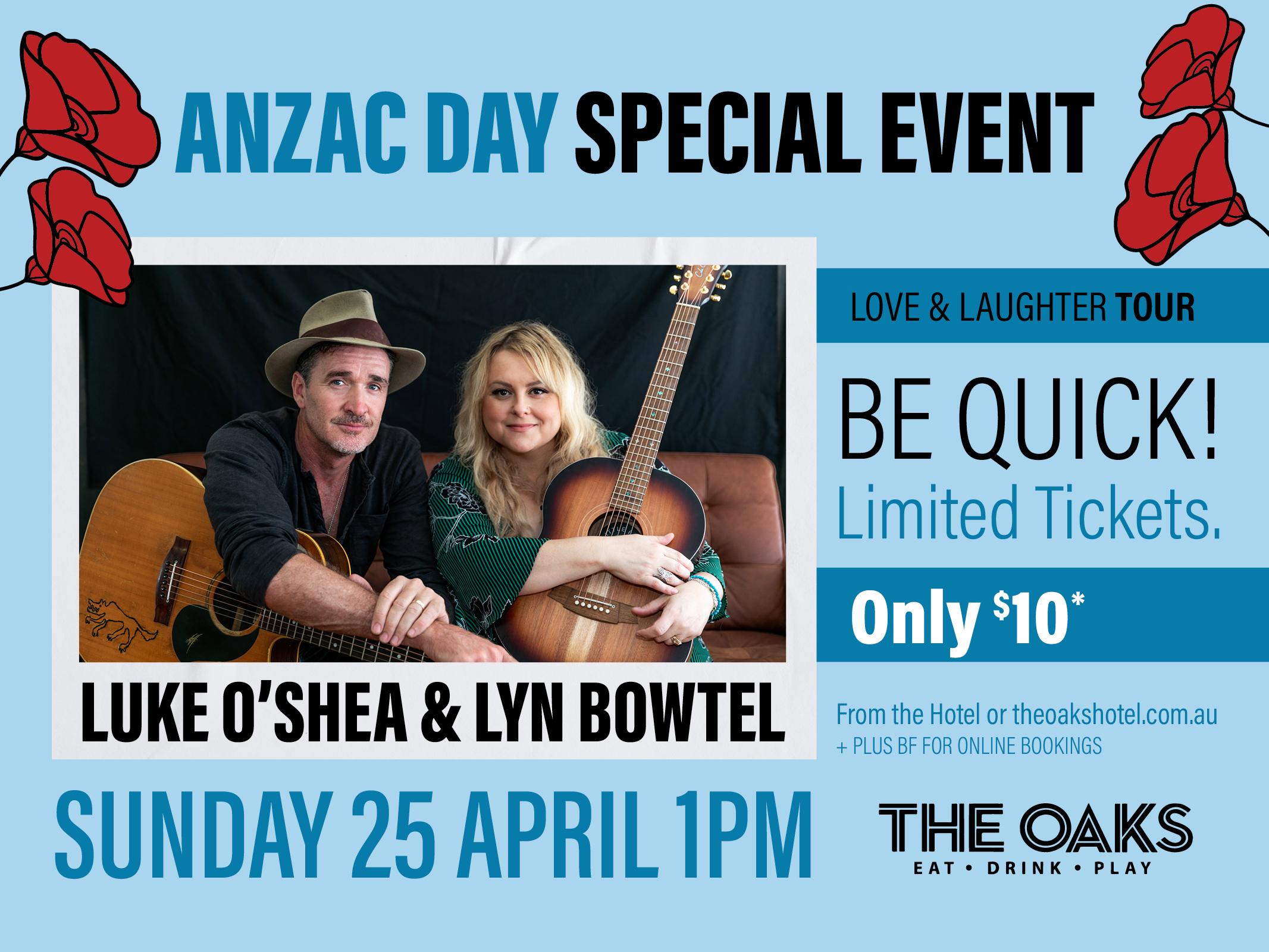 Luke O'shea & Lyn Bowtell