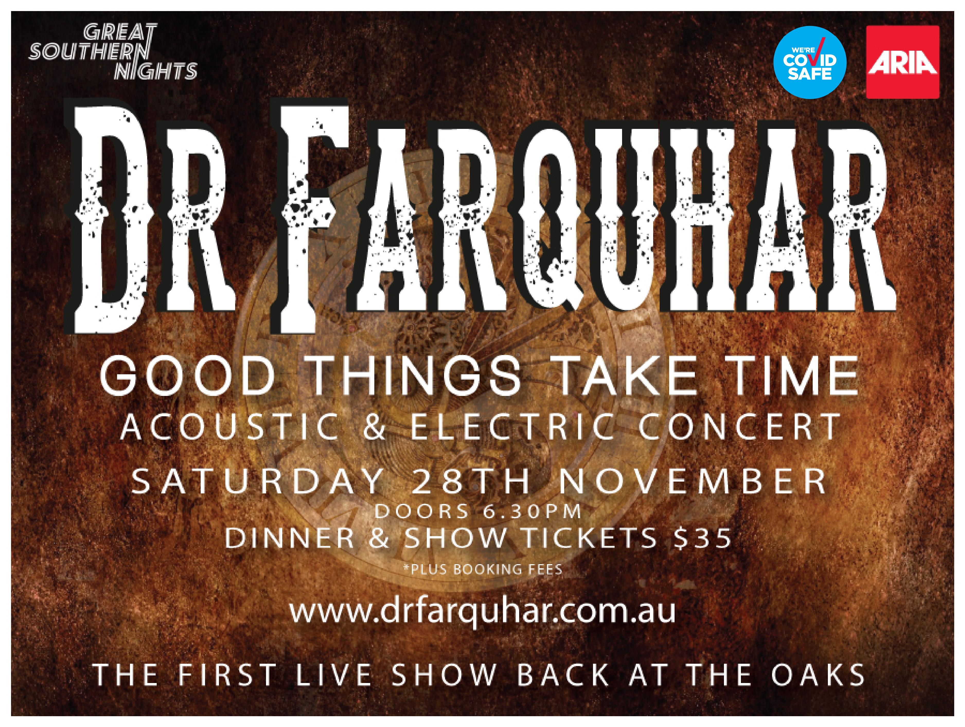DR Farquhar - Good things take time