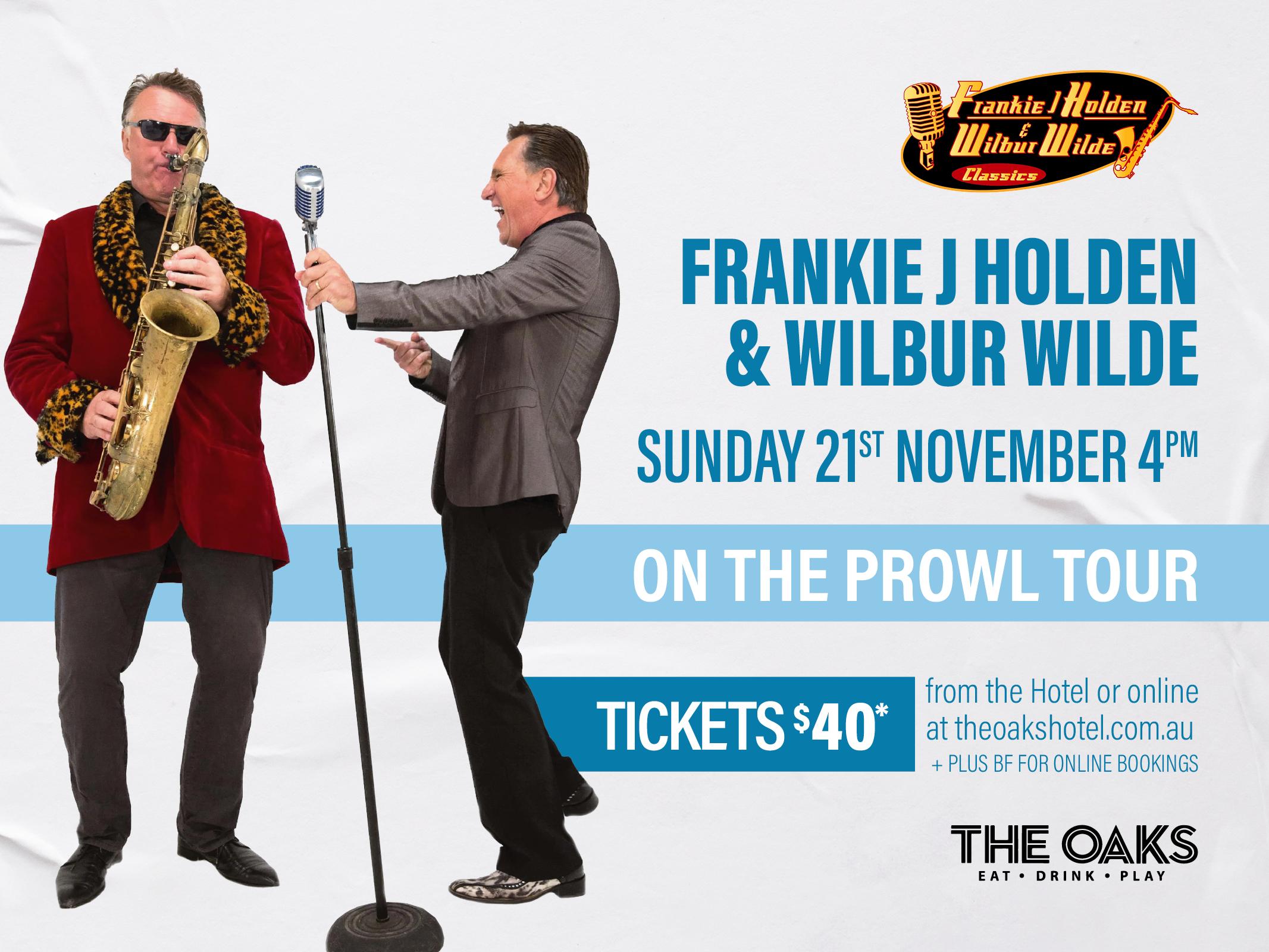 Frankie & Wilbur: ON THE PROWL TOUR