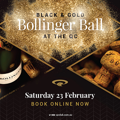 QLD Cricketers' Club Black and Gold Bollinger Ball