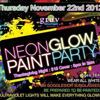 "Neon ""Glow"" Paint Party: Main Image"