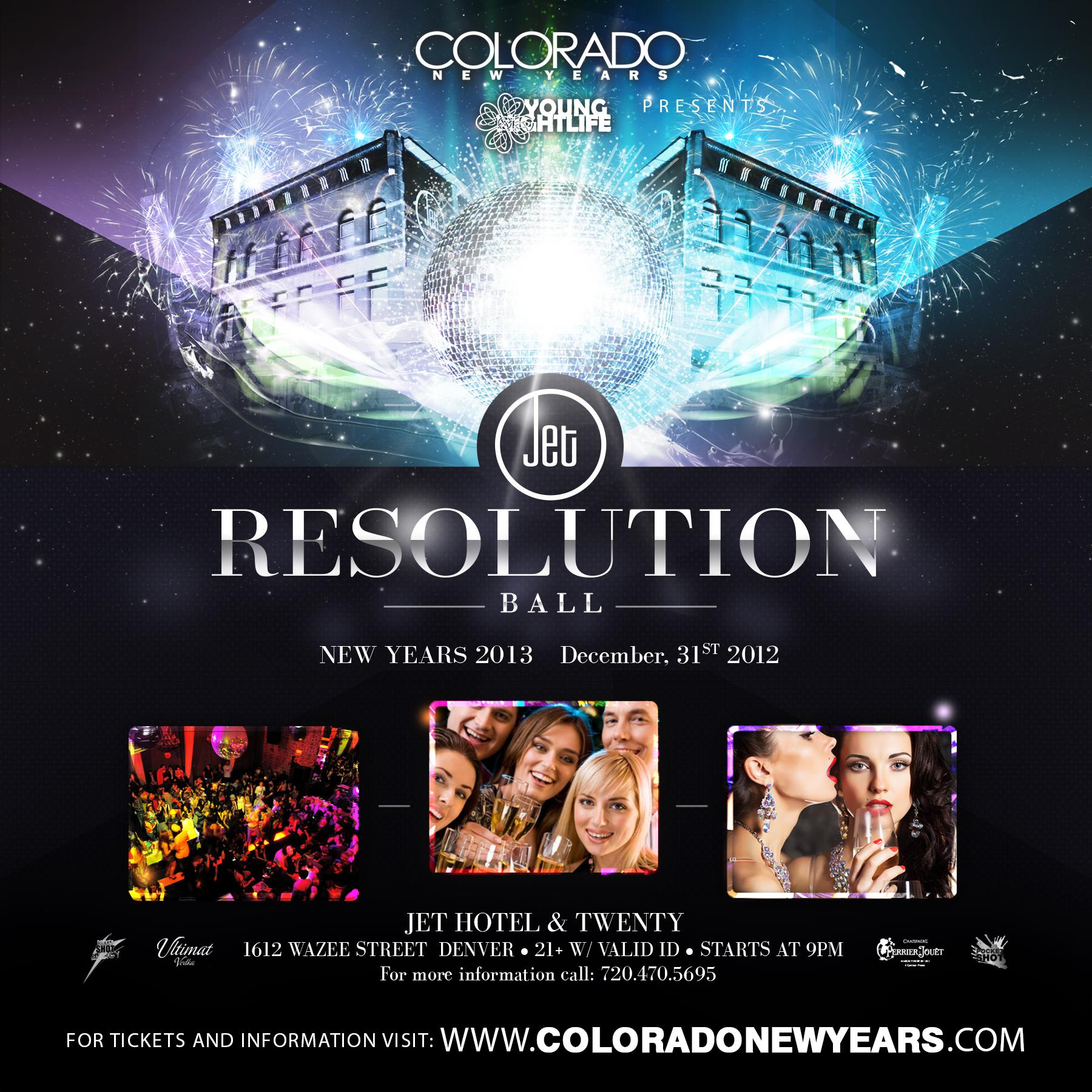 Resolution Ball New Years Eve Tickets - The Jet Hotel on ...