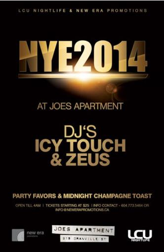 Joe's Apartment NYE 2014: Main Image