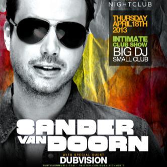 SANDER VAN DOORN (EDM): Main Image