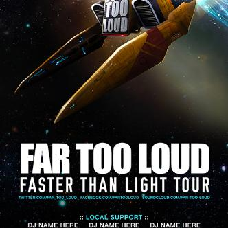 FASTER THAN LIGHT/FAR TOO LOUD: Main Image