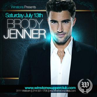BRODY JENNER @ WINSTONS DALLAS: Main Image
