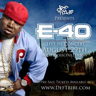 Def Tribe Presents E40 Live: Main Image