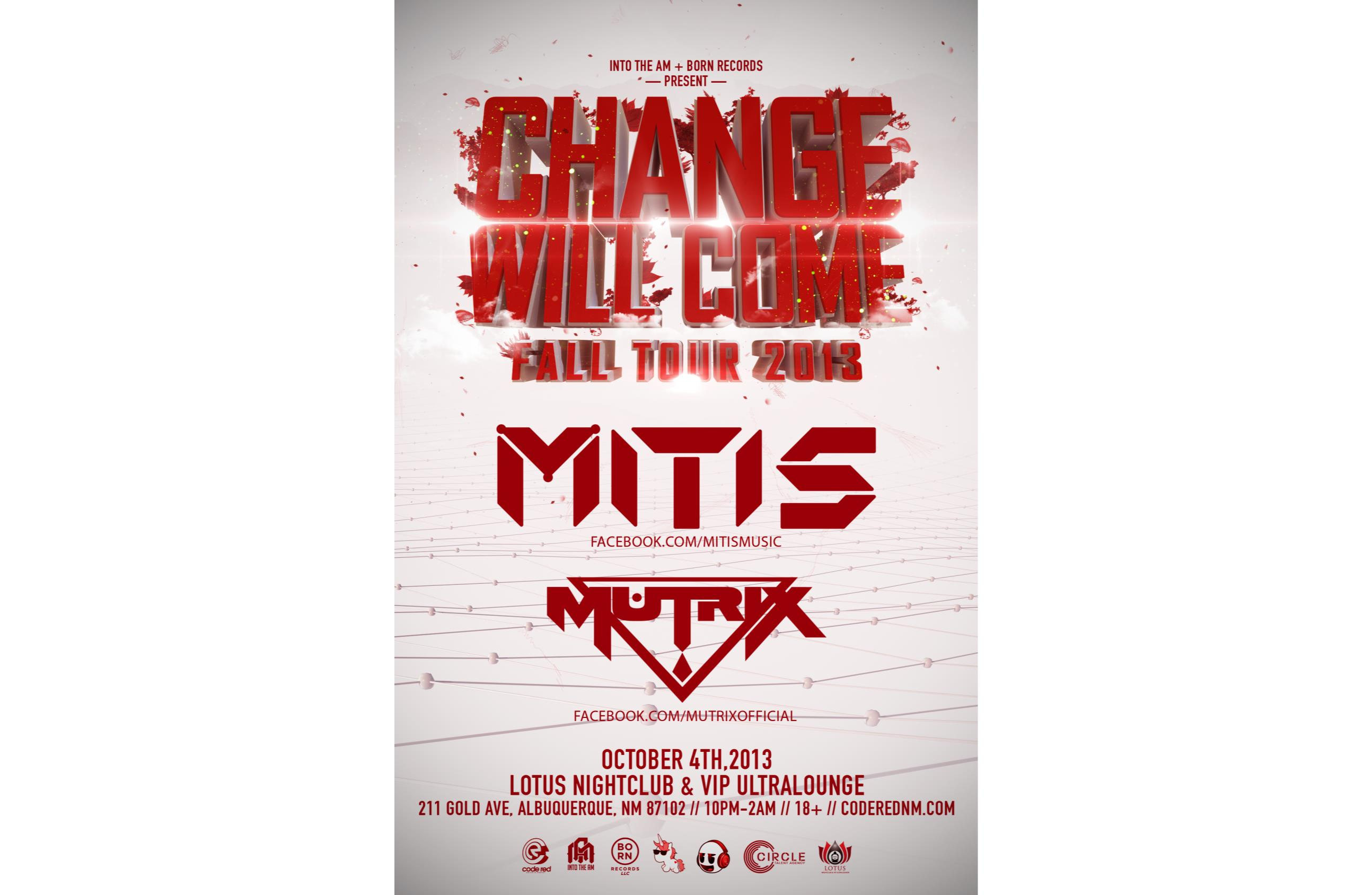 Buy Tickets to Change Will Come-Mitis/Mutrix in Albuquerque