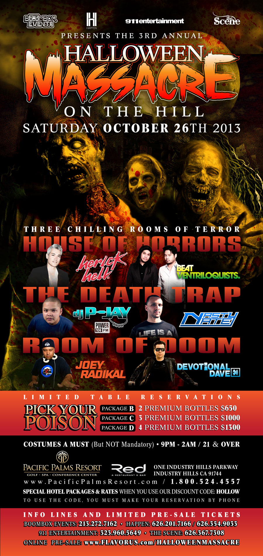 Halloween Massacre on the Hill Tickets - The Pacific Palms Resort ...