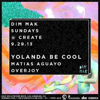 DIM MAK | YOLANDA BE COOL: Main Image