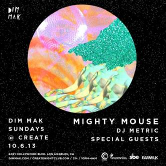 DIM MAK SUNDAYS - MIGHTY MOUSE: Main Image