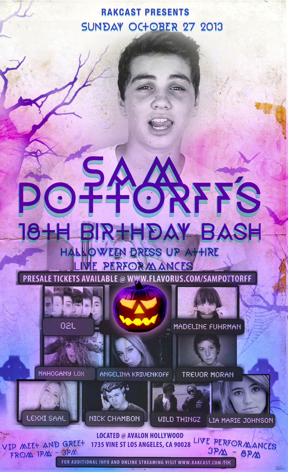 Sam pottorffs 18th birthday tickets the avalon hollywood on sam pottorffs 18th birthday main image kristyandbryce Gallery