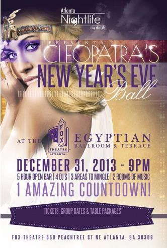 Cleopatra's 2014 New Years Eve: Main Image