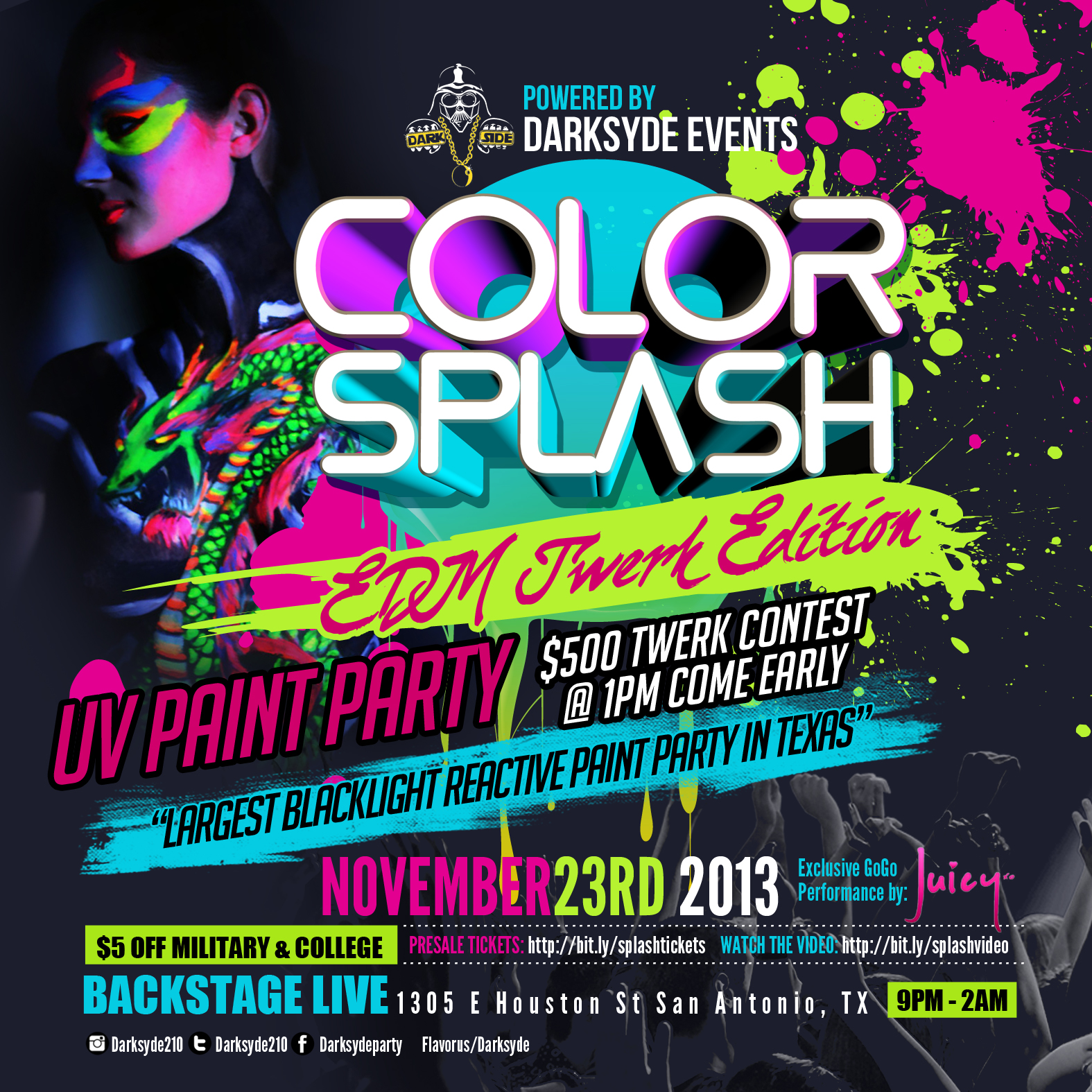 Live In Color Paint Party Tickets