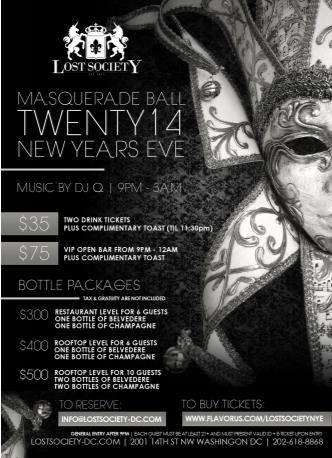 Twenty14 Masquerade (SOLD OUT): Main Image
