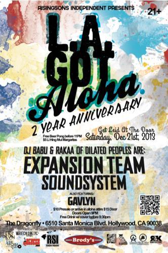 LA Got Aloha w/Dj Babu & Rakaa: Main Image
