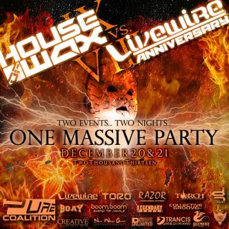 House of Wax vs. Livewire 2013: Main Image