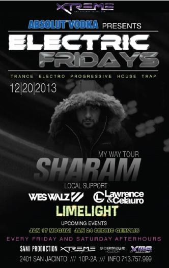 Sharam | Electric Fridays: Main Image
