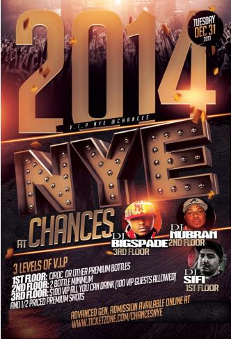 CHANCES 2014 HIP-HOP NEW YEARS: Main Image