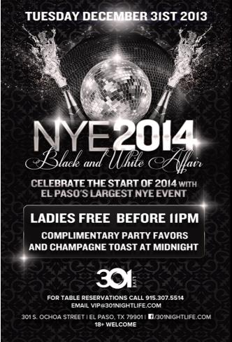 NYE 2014 BLACK & WHITE AFFAIR: Main Image