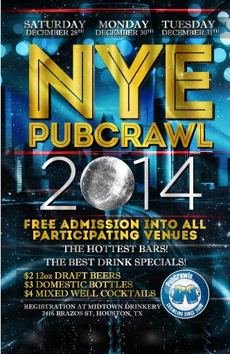 Dec 28 Houston PubCrawl NYE: Main Image