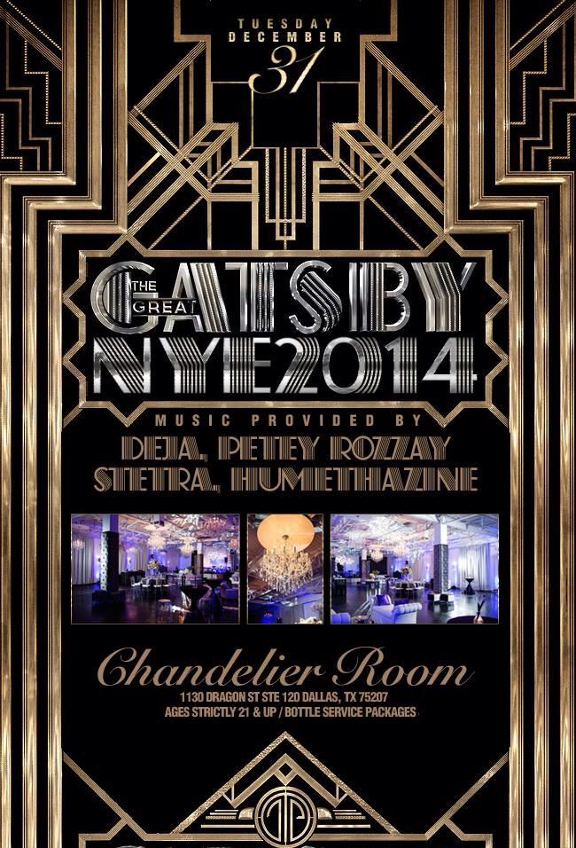 Great gatsby nye tickets the chandelier room on december 31 2013 great gatsby nye main image aloadofball Gallery