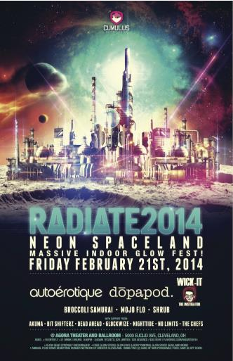 RADIATE 2014 : NEON SPACELAND: Main Image