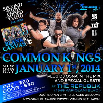 Common Kings Hana Hou Bash: Main Image