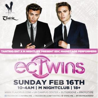 Ec Twins Live at M nightclub: Main Image