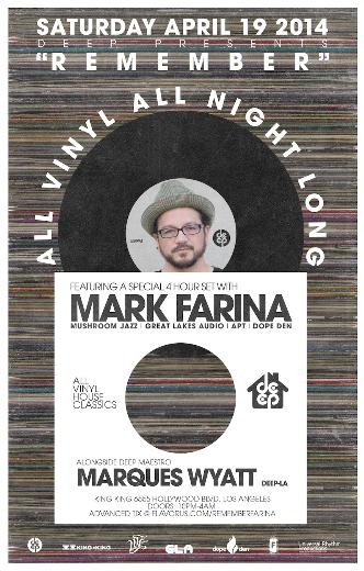 DEEP pres MARK FARINA: Main Image