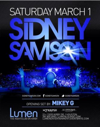 Sidney Samson | Lumen Lounge: Main Image