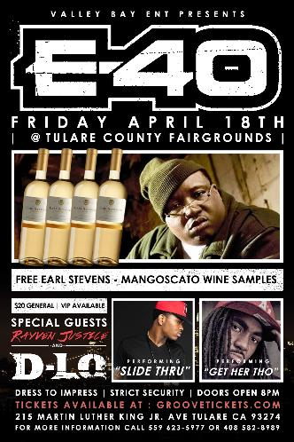 E-40 Live in Tulare april 18th: Main Image