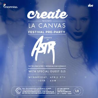 LA CANVAS PRE-FESTIVAL PARTY W: Main Image