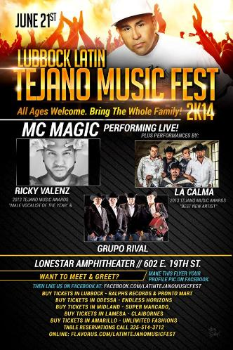 LATIN TEJANO MUSIC FEST 2k14: Main Image