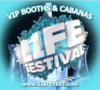 1LIFE FEST - VIP BOOTH/CABANA: Main Image