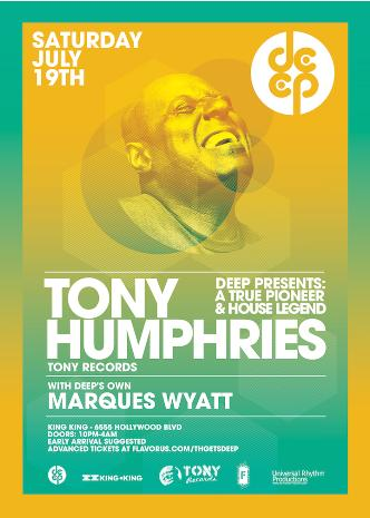 DEEP pres TONY HUMPHRIES: Main Image