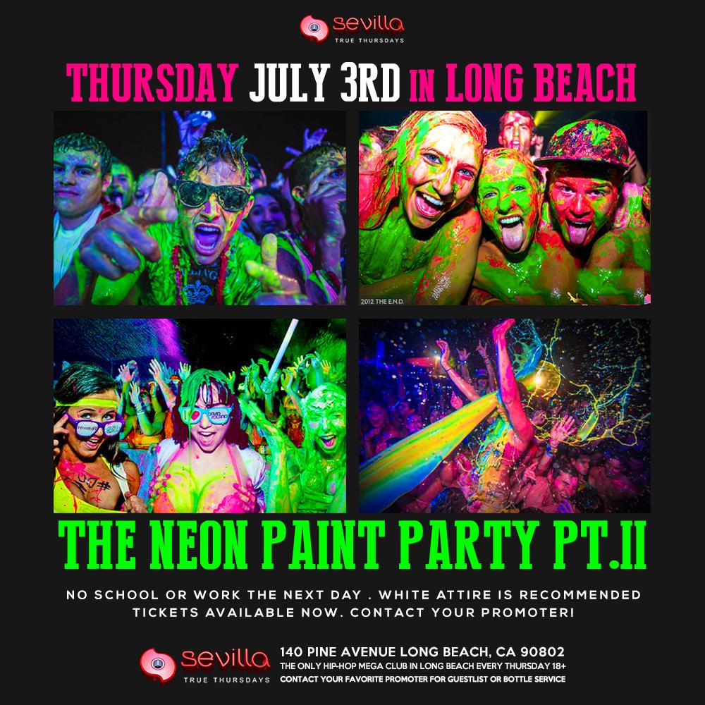 The Neon Paint Party 18+ Tickets - The Sevilla Nightclub ...