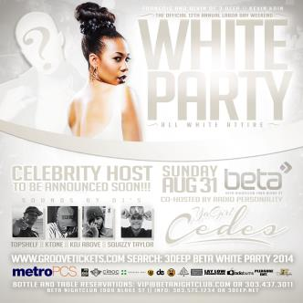3DEEP BETA ALL WHITE PARTY2014: Main Image