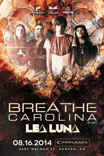BREATHE CAROLINA @ Casslemans: Main Image