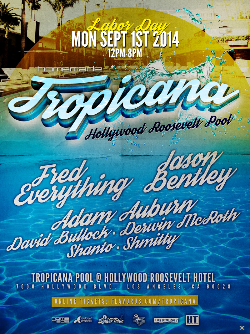 Tropicana - Roosevelt Pool Tickets - The Hollywood Roosevelt Hotel ...