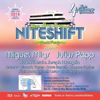 NITESHIFT 4 YEAR YACHT PARTY: Main Image