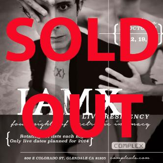 IAMX live residency 4 SOLD OUT: Main Image
