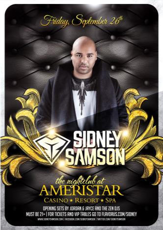 Sidney Samson @ Ameristar 9/26: Main Image