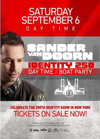 SANDER VAN DOORN BOAT PARTY: Main Image