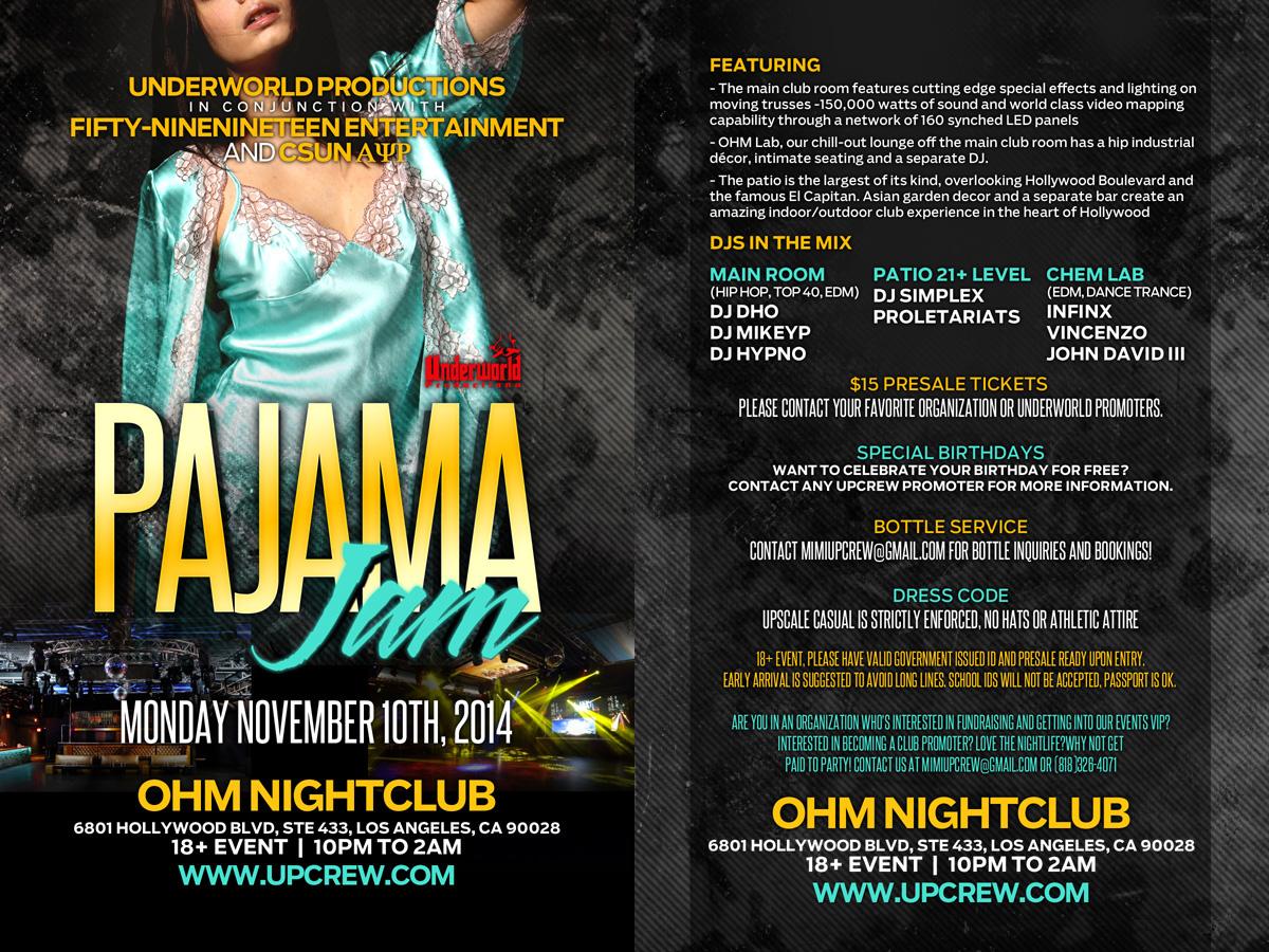 Pajama Jam: Unity Club Party Tickets - The OHM Nightclub on ...