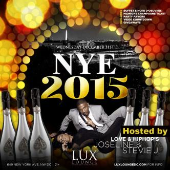 NYE 2015 AT LUX LOUNGE: Main Image