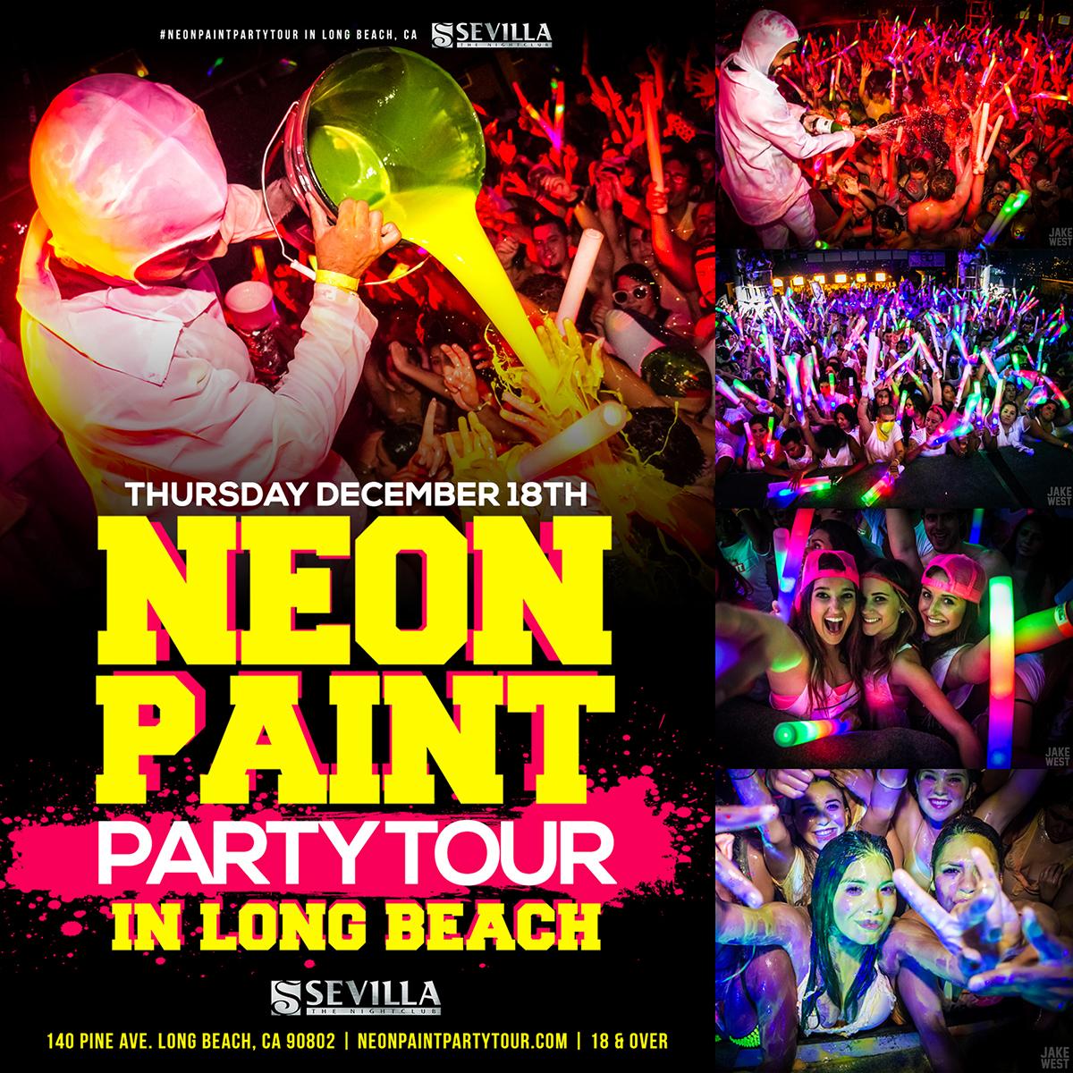 THE NEON PAINT PARTY TOUR LBC Tickets 12/18/14