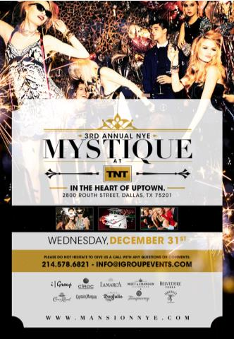 Mystique at The Mansion NYE: Main Image